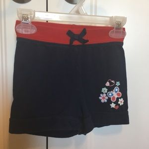 Navy blue and red 4T girls shorts